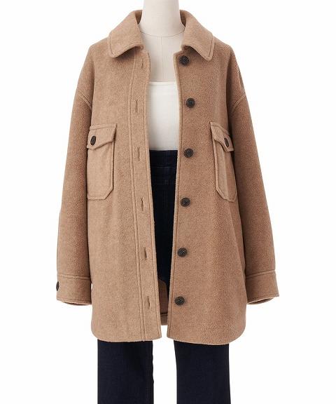 【SOLD OUT】COCODEAL ココディール/フリースオーバーシャツジャケット 70614241