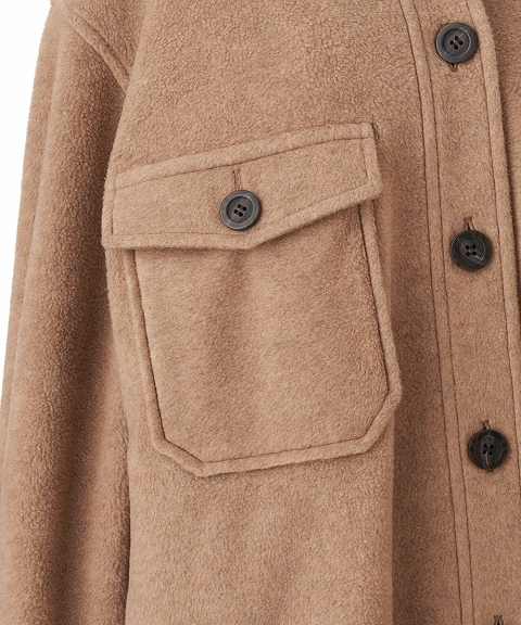 COCODEAL ココディール/フリースオーバーシャツジャケット 70614241【土日祝も16時まで即日発送(火曜以外)】