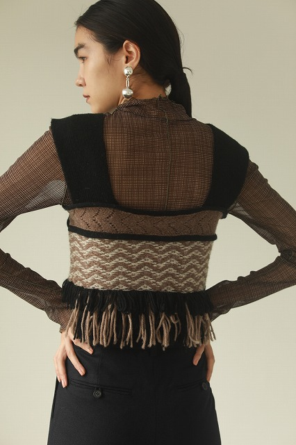 【SOLD OUT】TODAYFUL トゥデイフル/Jacquard Fringe Bustier 12020531【土日祝も16時まで即日発送(火曜以外)】