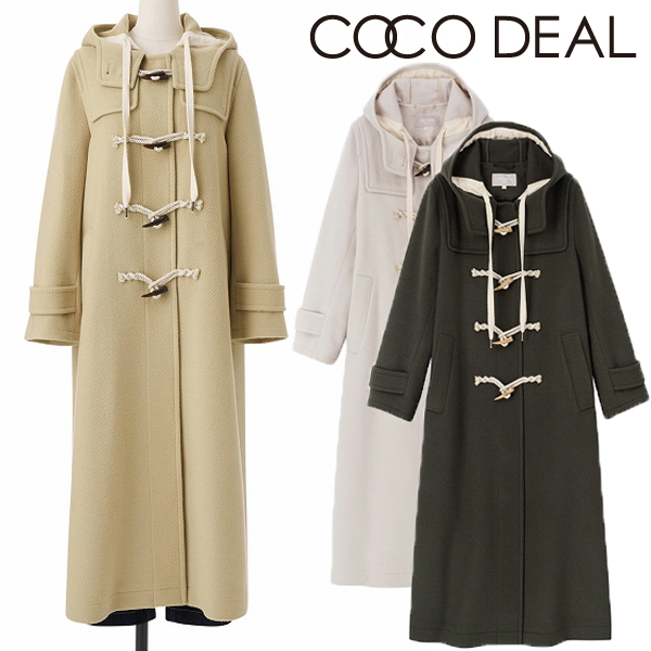 【SOLD OUT】\SALE20%OFF/COCODEAL ココディール/ロングダッフルコート 70719361