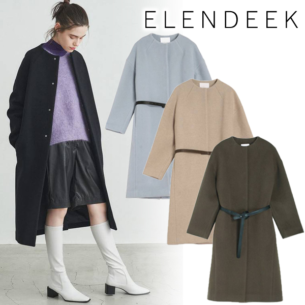 【SOLD OUT】\期間限定10%OFF/ELENDEEK エレンディーク/CREW NECK COCOON CT 512060010301