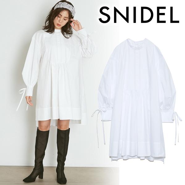 【SOLD OUT】\期間限定10%OFF/SNIDEL スナイデル/ORGANICSタキシードシャツワンピース SWFO211156