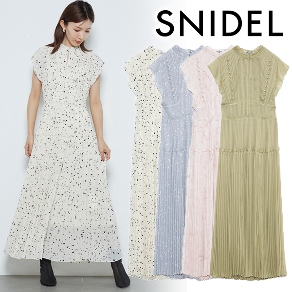 【SOLD OUT】\期間限定10%OFF/予約商品/SNIDEL スナイデル /プリーツロングワンピース SWFO211039 5月末〜6月末入荷予定