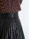 \期間限定5%OFF/SNIDEL スナイデル /レザープリーツスカート SWFS214200 【土日祝も16時まで即日発送(火曜以外)】