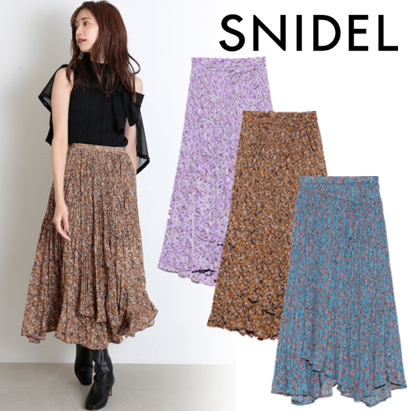 【SOLD OUT】\期間限定10%OFF/SNIDEL スナイデル /プリントプリーツスカート SWFS204115【土日祝も16時まで即日発送(火曜以外)】
