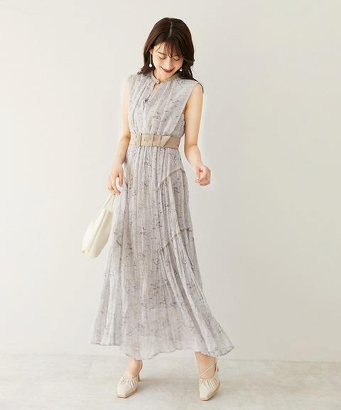 予約商品/COCODEAL ココディール /アートストーンプリントロングドレス 71515111 8月上〜9月上入荷予定