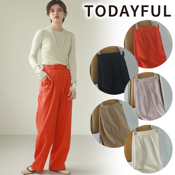 【SOLD OUT】TODAYFUL トゥデイフル/Tuck Wool Trousers 12020701【土日祝も16時まで即日発送(火曜以外)】