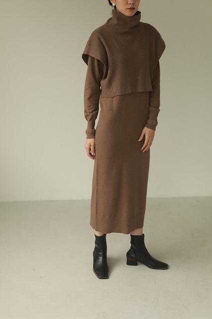 TODAYFUL トゥデイフル/Layered Knit Dress 12020322 【土日祝も16時まで即日発送(火曜以外)】