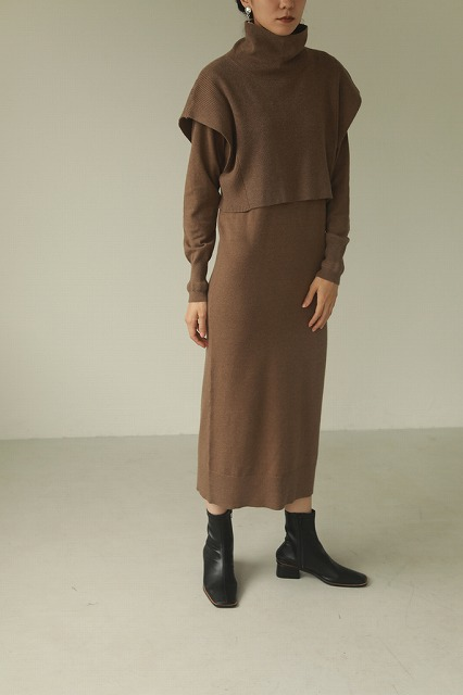 【SOLD OUT】TODAYFUL トゥデイフル/Layered Knit Dress 12020322