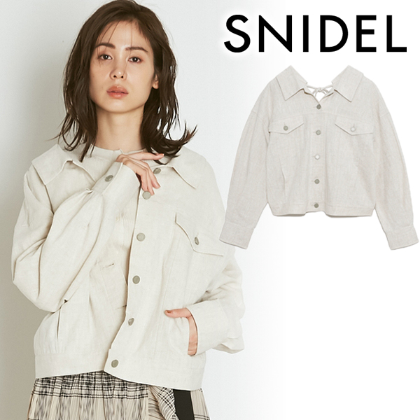 【SOLD OUT】\期間限定10%OFF/SNIDEL スナイデル/リネンGジャン SWFJ211154 【土日祝も16時まで即日発送(火曜以外)】