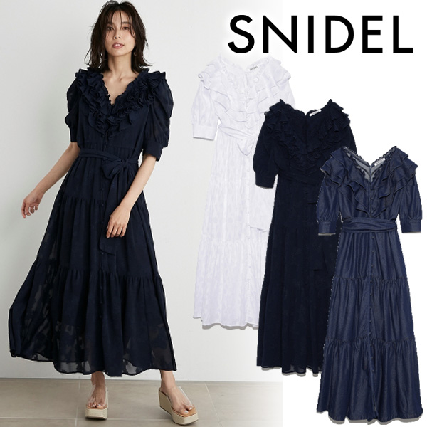 【SOLD OUT】\期間限定5%OFF/SNIDEL スナイデル/SNIDEL×新木優子×sweet ワンピース SWFO212093