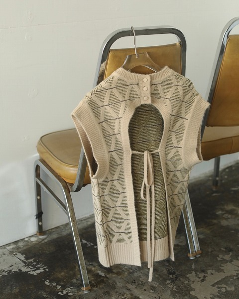 【SOLD OUT】TODAYFUL トゥデイフル Pattern Knit Vest 12020520 【土日祝も16時まで即日発送(火曜以外)】