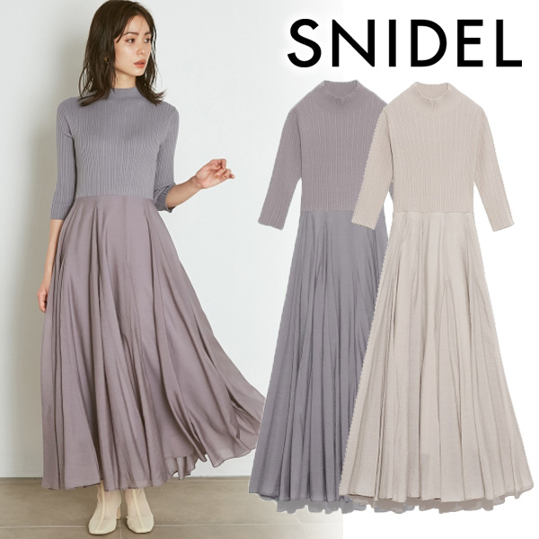 【SOLD OUT】\期間限定10%OFF/SNIDEL スナイデル/ニットドッキングワンピース SWNO211057