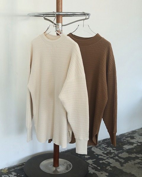 【SOLD OUT】TODAYFUL トゥデイフル/Boyfriend Waffle Pullover 12020613