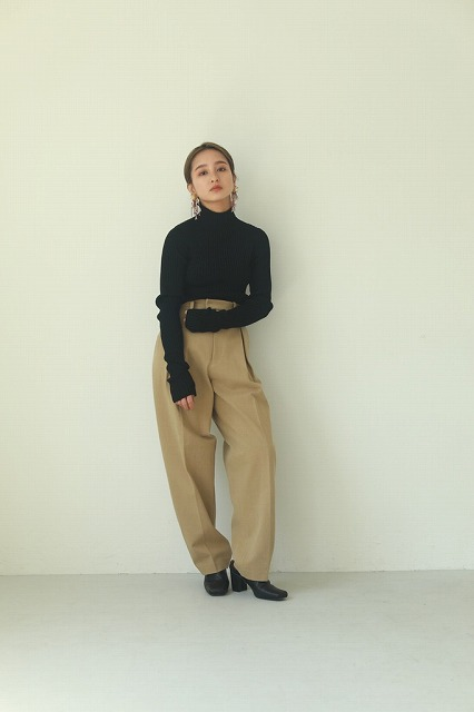 【SOLD OUT】TODAYFUL トゥデイフル Cotton Boxtuck Pants 12020708