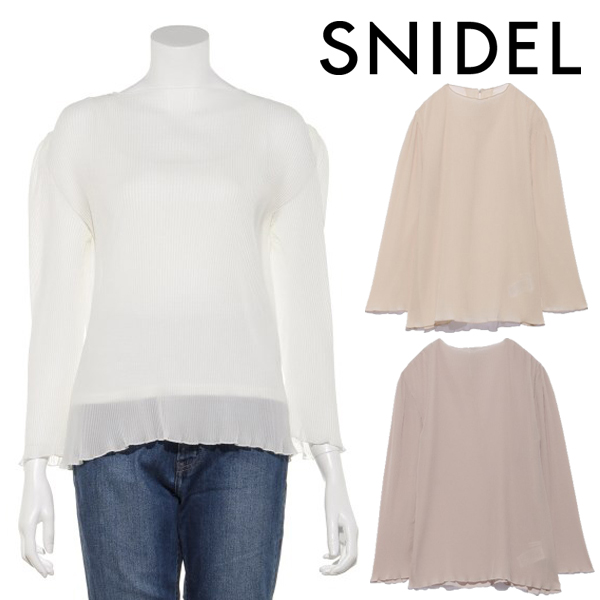 【SOLD OUT】\期間限定10%OFF/SNIDEL スナイデル/プリーツシアーブラウス SWFB211114