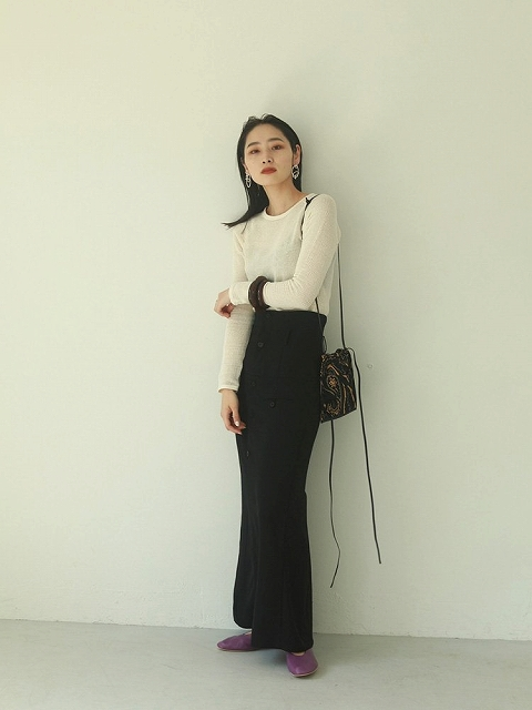 【SOLD OUT】TODAYFUL トゥデイフル/Button Bustier Skirt 12020802