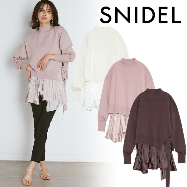 【SOLD OUT】\期間限定10%OFF/SNIDEL スナイデル/プリーツレイヤードニットプルオーバー SWNT211085