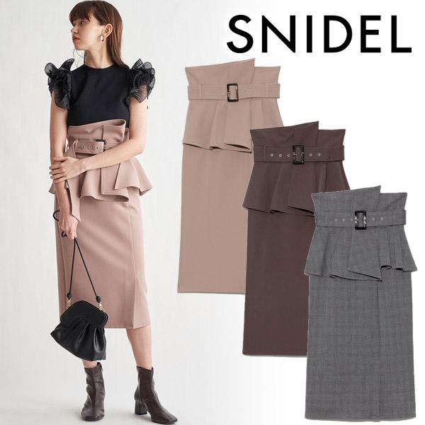 【SOLD OUT】\期間限定5%OFF/SNIDEL スナイデル/コルセットベルトタイトスカート SWFS214189 【土日祝も16時まで即日発送(火曜以外)】