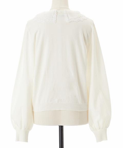 【SOLD OUT】COCODEAL ココディール/刺繍衿ニットプルオーバー 71231210 【土日祝も16時まで即日発送(火曜以外)】