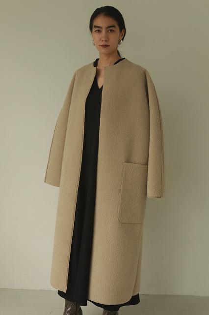 【SOLD OUT】TODAYFUL トゥデイフル/Collarless Boa Coat 12020006