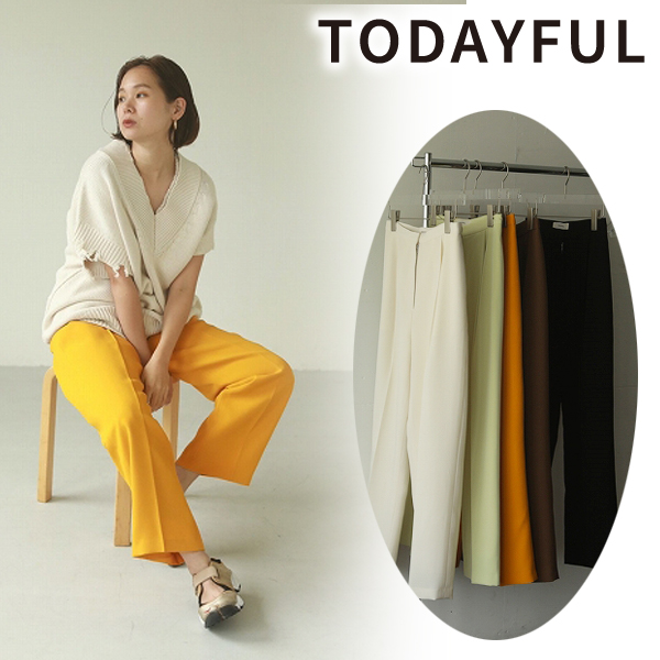 \SALE50%OFF/TODAYFUL トゥデイフル/Pique Tuck Trousers 12110707 【翌営業日発送】
