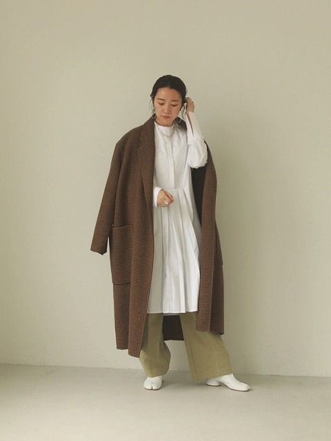 【SOLD OUT】TODAYFUL トゥデイフル/Over Check Coat 12020014