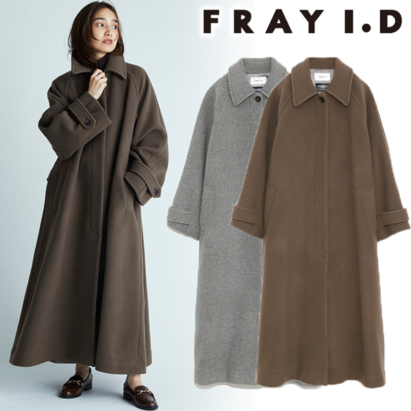 【SOLD OUT】\期間限定10%OFF/FRAY I.D フレイアイディー/バルマカンロングコート FWFC205209