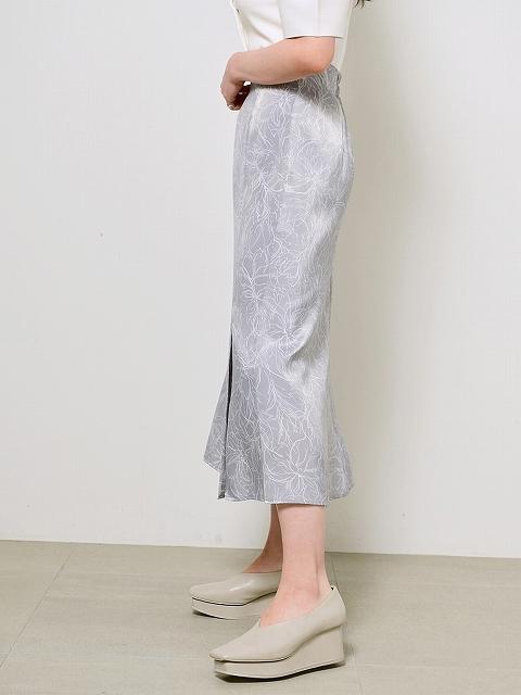 【SOLD OUT】\期間限定10%OFF/SNIDEL スナイデル/ラインフラワーナロースカート SWFS211172