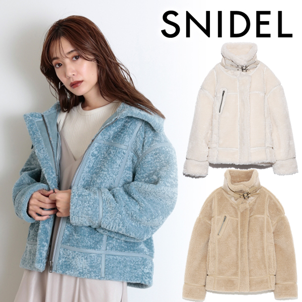 【SOLD OUT】\期間限定10%OFF/SNIDEL スナイデル/エコファーブルゾン SWFJ204015
