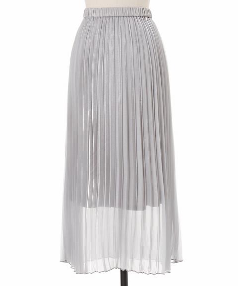 COCODEAL ココディール/ブライトオーガンジーアコーディオンプリーツスカート 71317345 【土日祝も16時まで即日発送(火曜以外)】