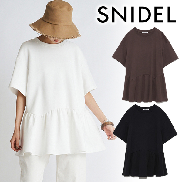 【SOLD OUT】\期間限定5%OFF/SNIDEL スナイデル/ペプラムビッグTシャツ SWCT214027