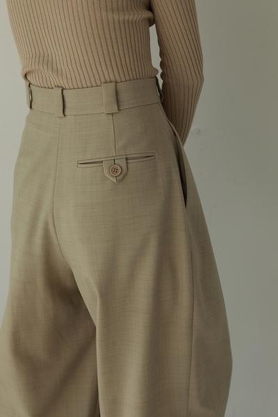 再入荷!TODAYFUL トゥデイフル/Highwaist Tuck Trousers 12110703 【土日祝も16時まで即日発送(火曜以外)】