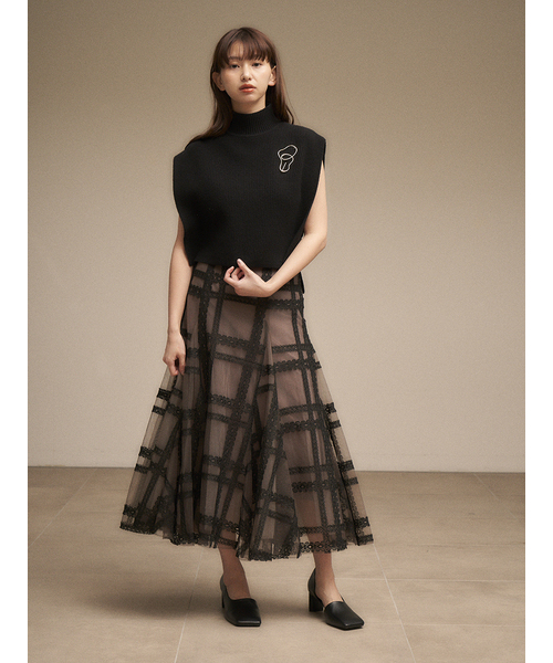 【SOLD OUT】\期間限定5%OFF/SNIDEL スナイデル /畦ニットベスト SWNT214116 【土日祝も16時まで即日発送(火曜以外)】