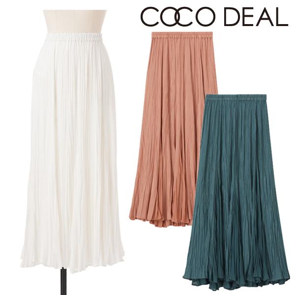 【SOLD OUT】COCODEAL ココディール/サテン×シフォンハイブリットプリーツスカート 70517503