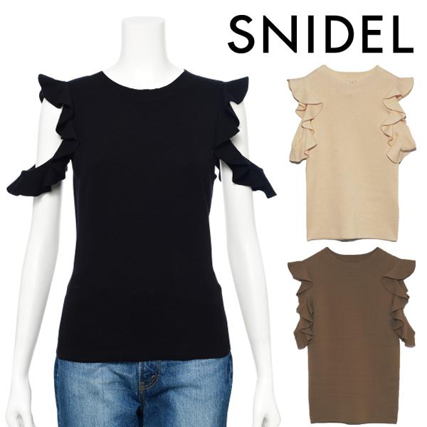 【SOLD OUT】\SALE40%OFF/ネコポス送料無料/SNIDEL スナイデル/フリルニットプルオーバー SWNT204178