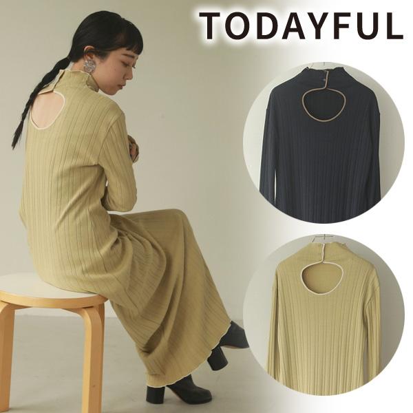 TODAYFUL トゥデイフル/Piping Rib Dress 12020325【土日祝も16時まで即日発送(火曜以外)】