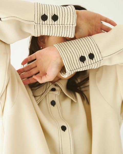 TODAYFUL トゥデイフル /Stitch Wool Shirts 12120415 【土日祝も16時まで即日発送(火曜以外)】