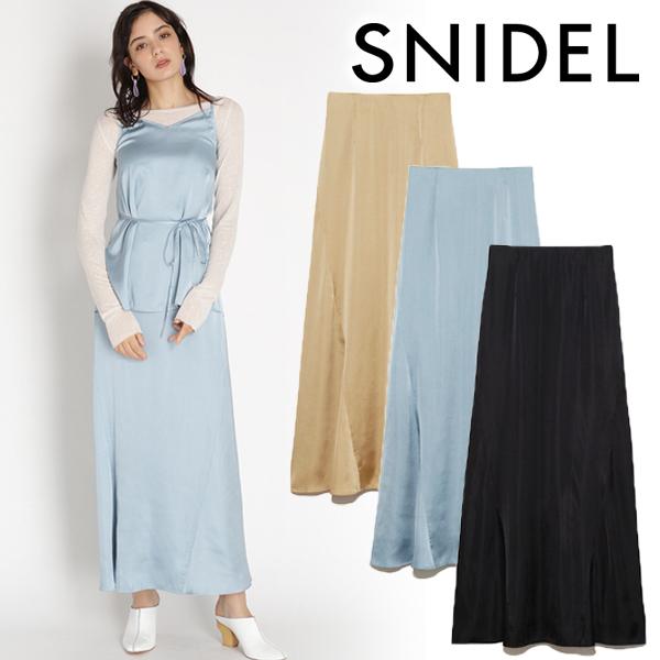 \50%OFF/SNIDEL スナイデル/サテンスカート SWFS201091【翌営業日発送】