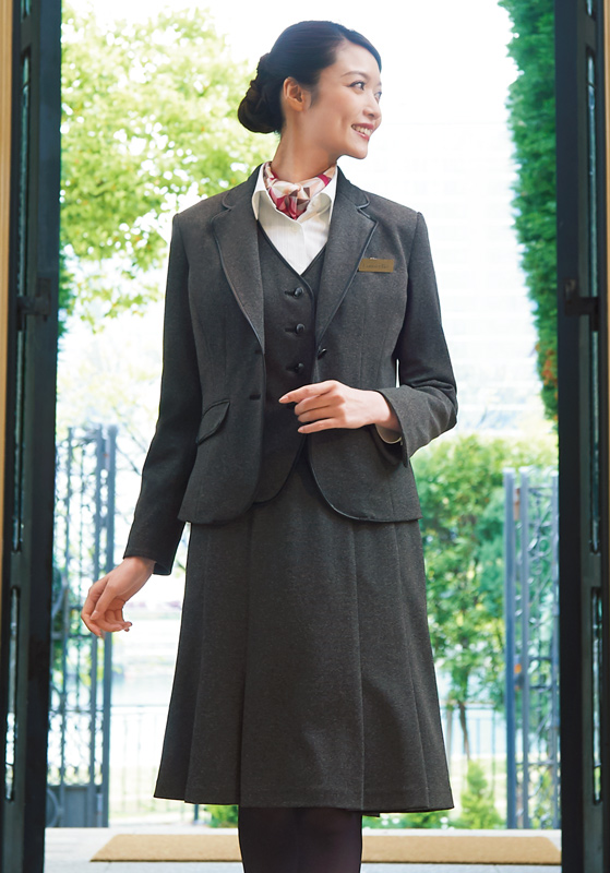 Counter Biz (カウンタービズ) 裾プリーツスカート 9858