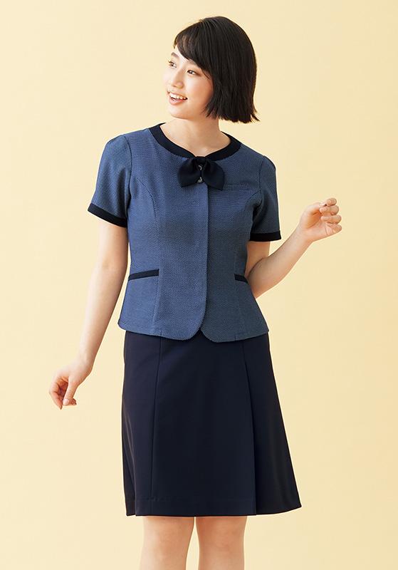 nuovo(ヌーヴォ) 脇ゴム片プリーツニットスカート FS45981