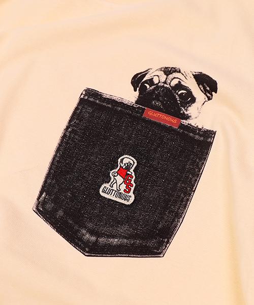 【GLUTTONOUS/ グルトン】 フェイクポケットTシャツ
