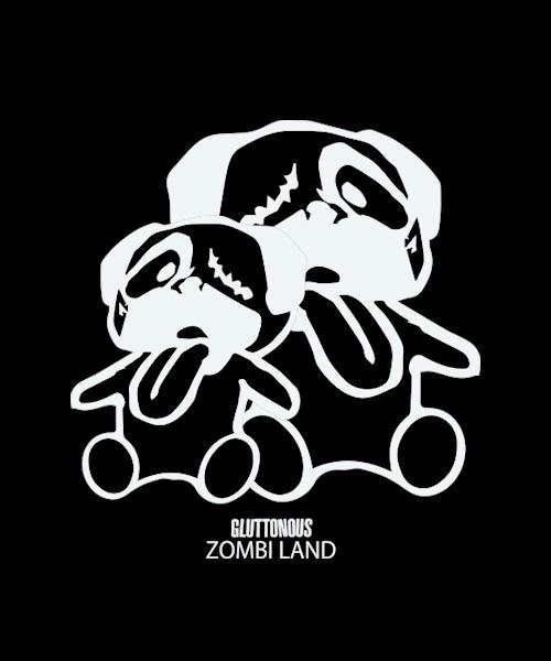 【GLUTTONOUS/グルトン】スーパービックシルエットサイドスリットロンT( ZOMBIE LAND)