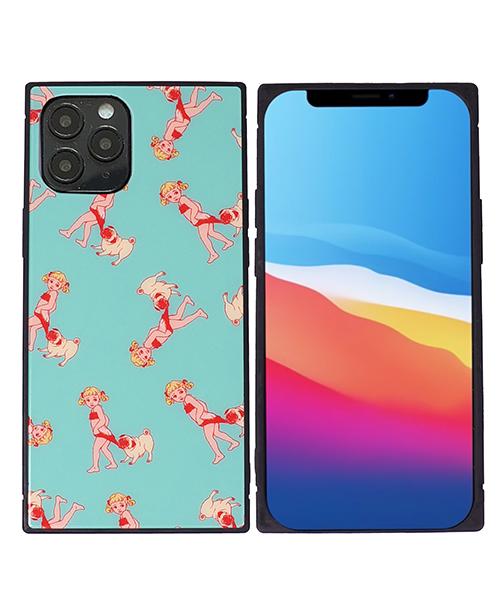 【GLUTTONOUS】iphone12 iphone12mini iphone12 pro iphone12 max スクエアケース(BEACH KIDS)
