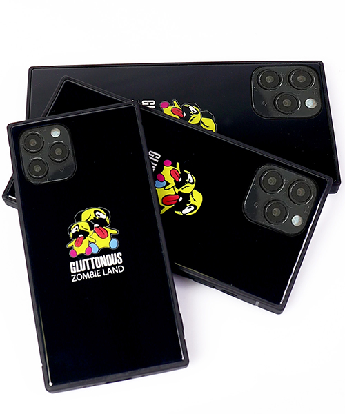 【GLUTTONOUS】iphone12 iphone12mini iphone12 pro iphone12 max スクエアケース(ZOMBIE LAND)