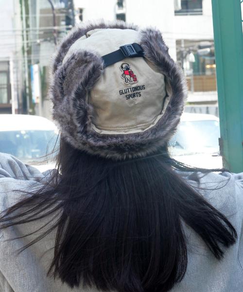 予約【GLUTTONOUS/ グルトン】 ファー フライトキャップ