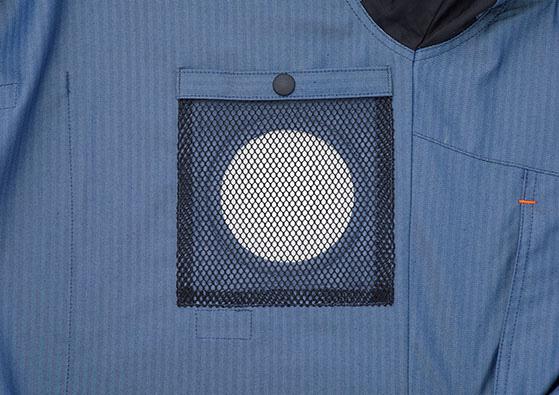 サンエス SUN-S ファンネット付き 空調風神服 長袖ブルゾン KU92011V