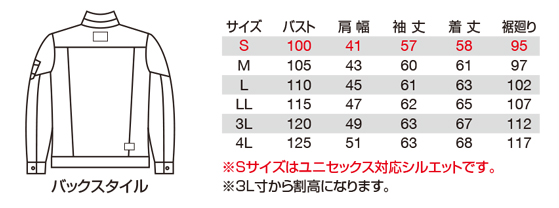 バートル BURTLE ジャケット 5001