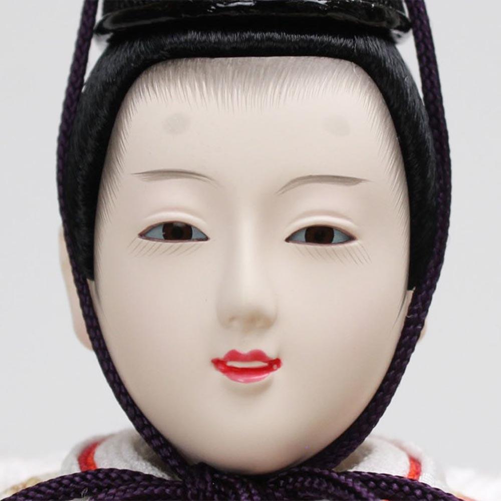 雛人形 お祝い ひな人形 平飾り 黒塗台付 親王飾り 2人飾り 二人飾り 会津塗 節句人形工芸士 二代目 優香 金箔 バック うさぎ おしゃれ かわいい 可愛い モダン