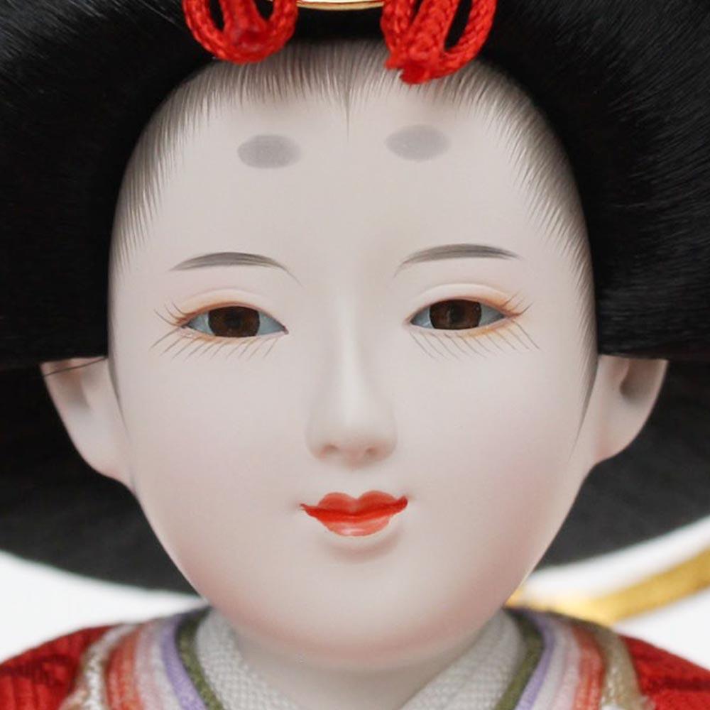 雛人形 お祝い ひな人形 平飾り 台付 朱色 黒 親王飾り 2人飾り 二人飾り 会津塗 三曲屏風 朱色 おしゃれ かわいい 可愛い コンパクト モダン